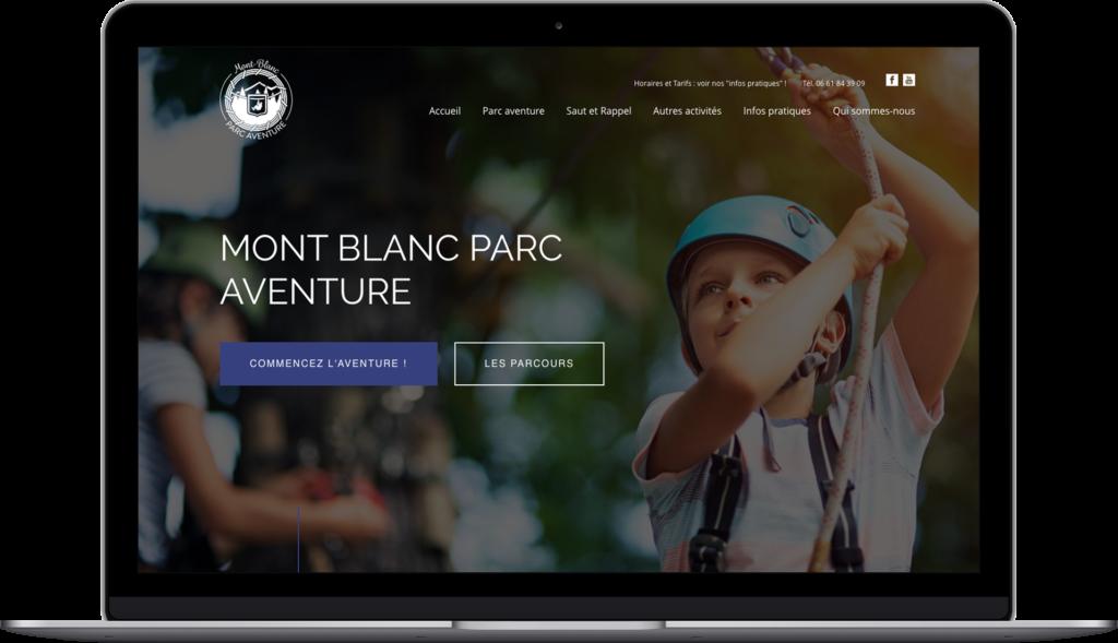 Website Mont-Blanc Par Aventure